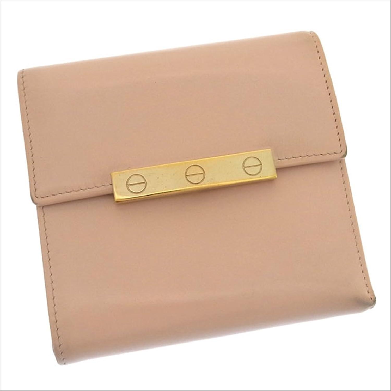 カルティエ Cartier 三つ折り財布 コンパクトサイズ レディース ラブコレクション L3000748 ビスプレート 中古 人気 美品 Y658 B0772SY2G8