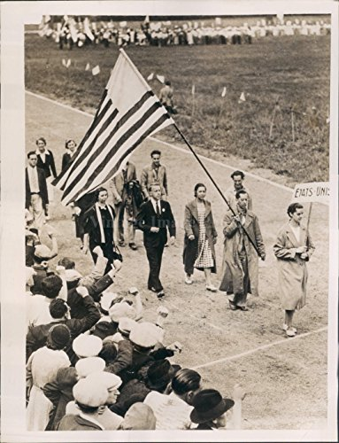 Stage Rally (1937 International Youth Stage Peace Rally France Corneuve American Press Photo)