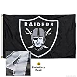 WinCraft Oakland Raiders Embroidered Nylon Flag