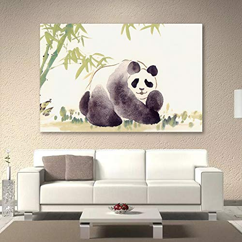 Panda with Bamboo Painting for Bedroom Living Room ation