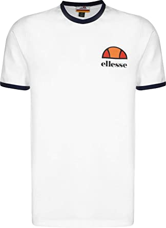 f942b518b0 ellesse T Shirt ALGILA Mens Navy Crew Neck Ringer TEE: Amazon.co.uk ...