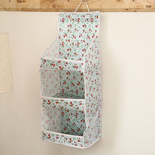 VIPASNAM-3 Layers Storage Bag Waterproof Hanging Organizer Bathroom Toiletry Non-Woven(random color) - Kichler Santa