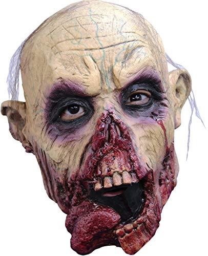 Child Size Zombie Tongue Jr Kids Scary Zombie Mask Halloween Spooky