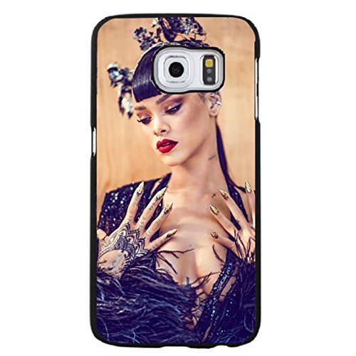Case Shell Fashion Charming Dressed Sexy Star Rihanna Phone Case Cover for Samsung Galaxy S6 Edge Plus Rihanna Vogue
