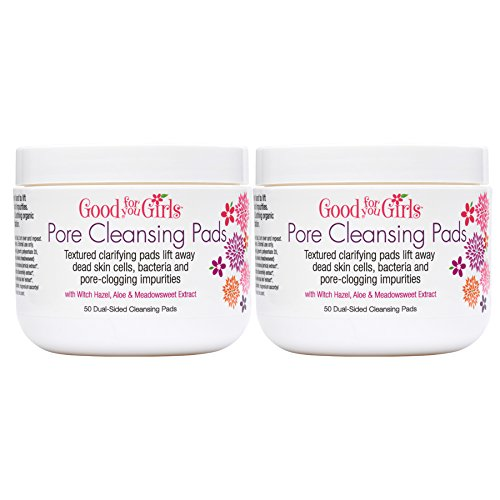 Good For You Girls Two Pack Pore Cleansing Toner Pads, gets rid of Dirt and Grime, 50 Pads each by Good For You Girls