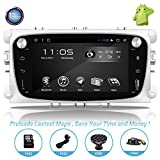 Android Car Stereo with Navigation-7 Inch Touch Screen Double Din Car Stereo with Bluetooth 2 Din Android Head Unit GPS Navigation for Car Ford Focus Mondeo S-MAX (1)