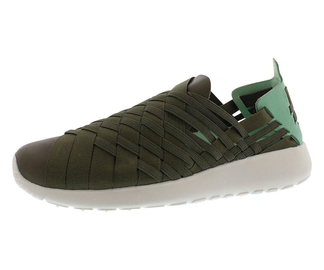 07301c0763474 ... low price amazon nike womens roshe run woven 2.0 iron green cargo khaki  medium mint summit