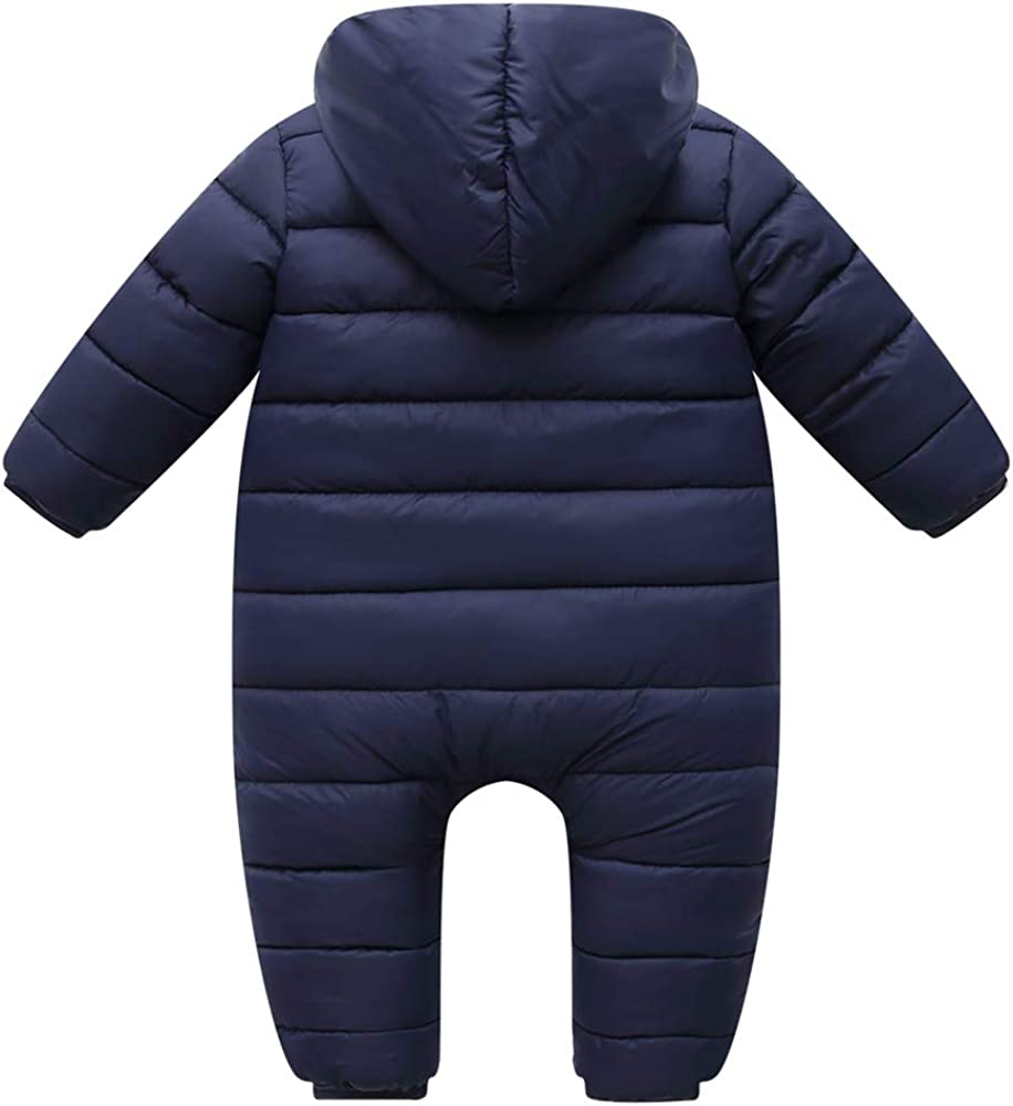 Baby Winter Overalls mit Kapuze Langarm Strampler Schneeanz/üge Baumwolle Jumpsuit Outfits 0-12 Monate