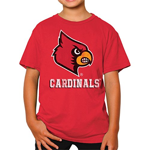 NCAA Louisville Cardinals Youth Boys Tee, Small, Red ()