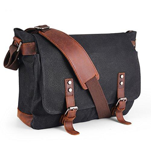 Waterproof Canvas Messenger Bag,Aizbo Men's Crossbody Shoulder Satchel Bag...