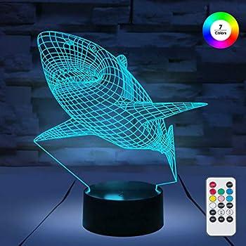Amazon.com: Lámparas LED de noche 3D, iluminación óptica, 7 ...
