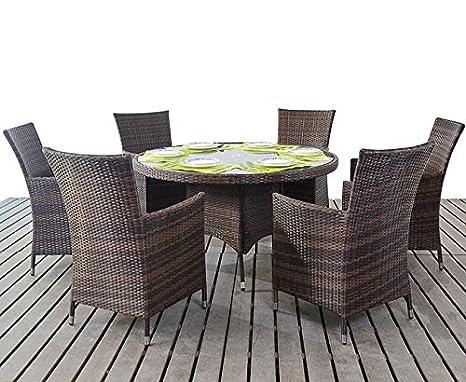 Prestige redonda mesa de comedor y 6 sillas - muebles de ...