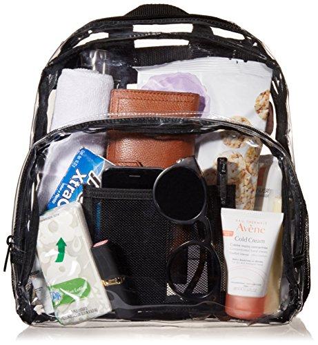 AmazonBasics Stadium Approved Mini Backpack, Clear by AmazonBasics (Image #2)