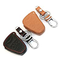 AndyGo Leather Car Remote Key Cover For Jeep Wrangler Jeep Compass Liberty Patriot Commander Grand Cherokee