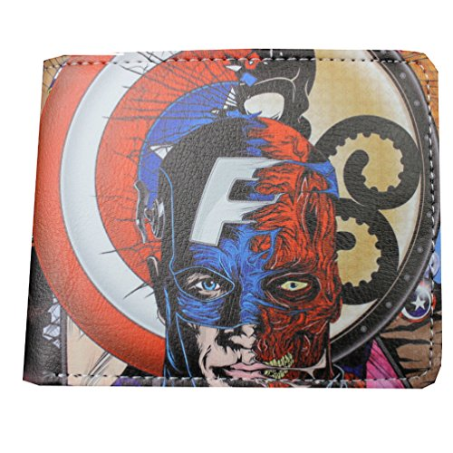 Red Skull Avengers Costume (Marvel Comics (Avengers) Captain America Red Skull Bi-Fold Men's Boys Wallet with Gift Box)