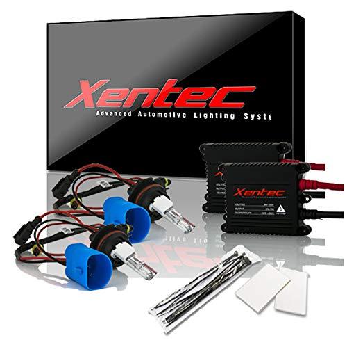 Xentec 9007 (HB5) 6000K Hi/Lo HID Xenon Bulb bundle with 55W EPE Alloy Slim Ballast (Ultra White, high beam halogen) (2000 Durango Hid Bulbs)