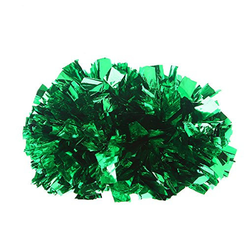 BetterM Cheerleading Handheld Cheer Pom Dance for Party Football Club Decor (Green) (Pep Rally Football)