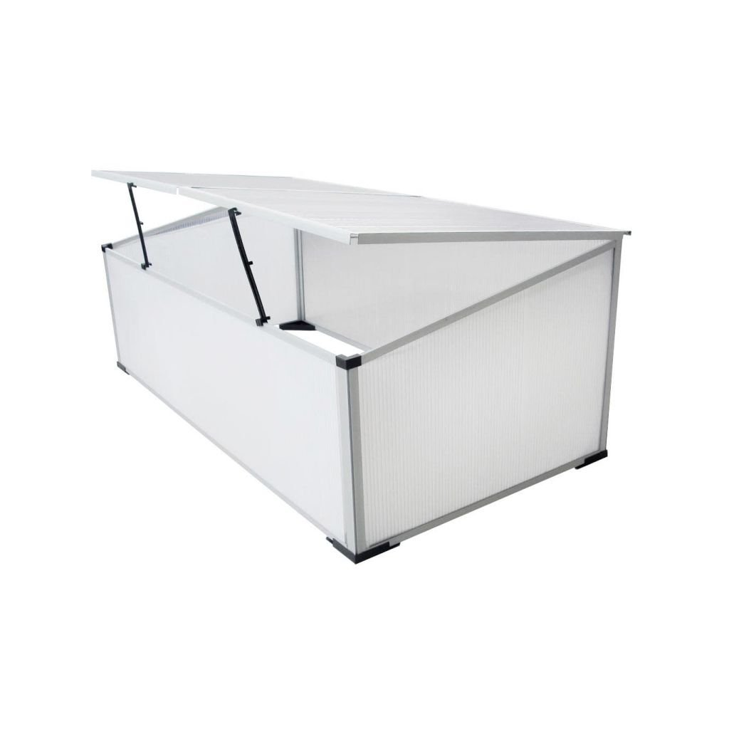109 x 41 x 56 cm Daonanba Cold Frame Durable Simple Style with 2 Lids 110x55x41 cm