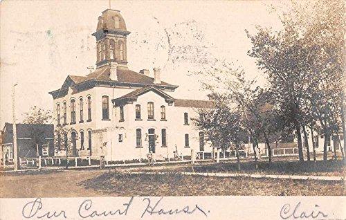 Pembina North Dakota Court House Real Photo Antique Postcard J69427