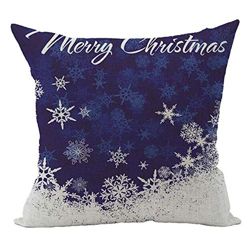 Throw Pillow Cases - Snowflake Blue Background Merry for sale  Delivered anywhere in Canada