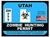 Utah Zombie Hunting Permit(Bumper Sticker)