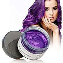 Harajuku Style Styling Products Hair Color Wax Dye One-time Molding Paste Seven Colors Hair Dye Wax Hair Dyes (Purple)