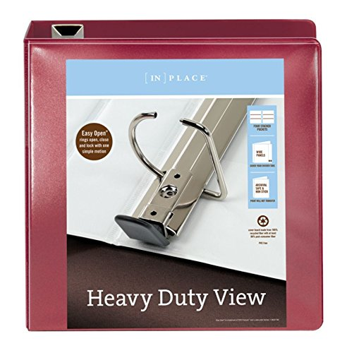 Office Depot(R) Brand Heavy-Duty D-Ring View Binder, 3in. Rings, 54% Recycled, Dark Red by Office Depot (Image #2)