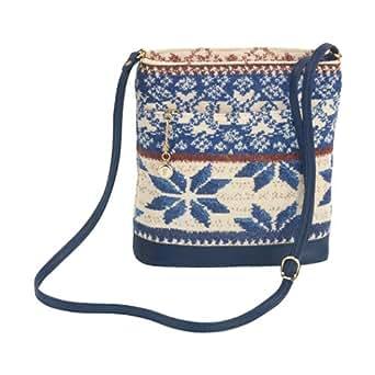 Feiler Baltic Blue Chenille Crossbody Bag for Women - Multi Color