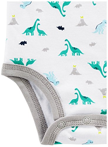 Simple Joys by Carter's Baby Boys 6-Pack Short-Sleeve Bodysuit, Navy/Turquoise, 0-3 Months by Simple Joys by Carter's (Image #2)
