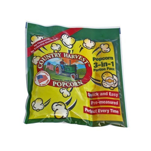 Country Harvest Popcorn Portion-Pack for 12-Ounce Poppers (Regular Case, ()