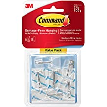 Command Wire Toggle Hook Value Pack, Medium, Clear, 6-Hooks (17065CLR-6ES)