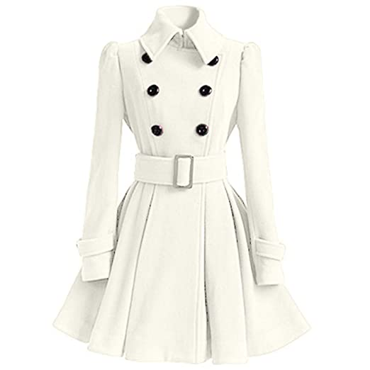 Coat Vintage Trench Manches À Dames Manteau Breal Mode Solide zSUpqMV