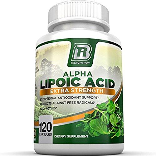 BRI Nutrition Alpha Lipoic Acid 250mg 120 Count Veggie Capsules - Universal Antioxidant High Potency - 120 Servings