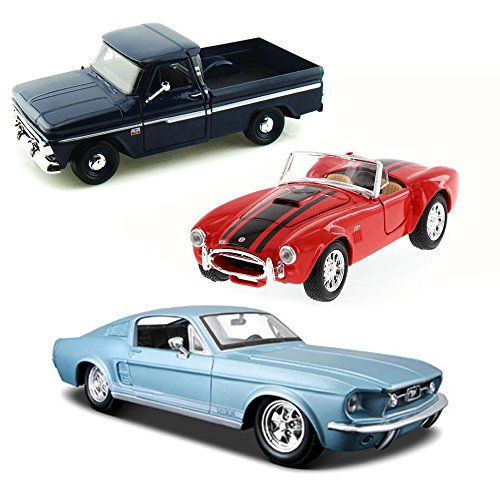 Best of 1960s Muscle Cars Diecast - Set 53 - Set of Three 1/24 Scale Diecast Model Cars (53 Chevy Truck Model compare prices)