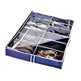 Zipcase Underbed Shoe/Sneaker Organizer for Kids and Adults (12 Pairs) –38 by 23 inch - Under bed Shoes/Closet Storage Solution