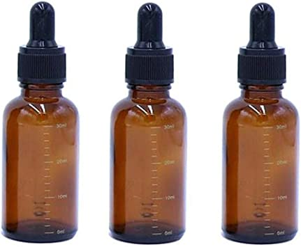 Sharplace Verre Compte-Gouttes Pipette Calibr/ée pour Maquillage /à lHuile Essentielle 1 ml