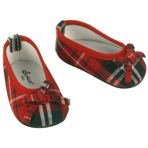 Fits American Girl Red Plaid Doll Shoes, for Doll Outfits- 18 Inch Doll Footwear, Baby & Kids Zone