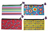 Inkology Blissful Garden Pencil Pouch with Charm Zipper Pull, 8.75 x 4.5 Inches, Single Pouch, Design Color May Vary (689-3)