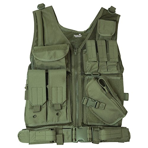 Cross Draw Vest (Lancer Tactical CA-310G Cross Draw Vest in OD)