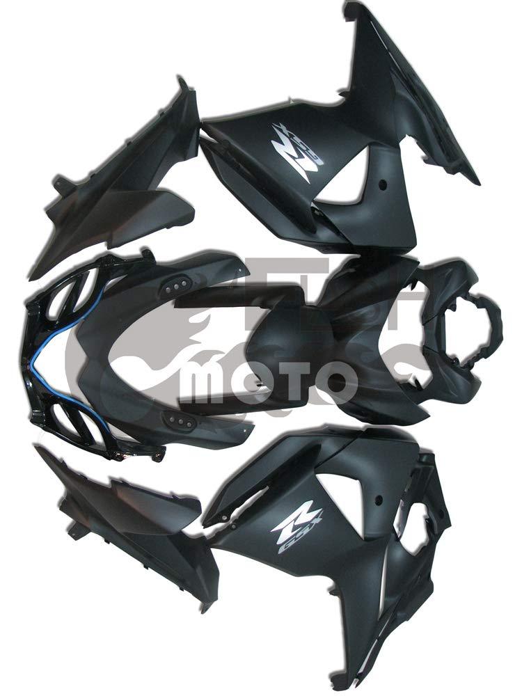 FlashMoto suzuki 鈴木 スズキ K9 GSXR1000 2009 2010 2011 2012 2013 2014 2015 2016用フェアリング 塗装済 オートバイ用射出成型ABS樹脂ボディワークのフェアリングキットセット ブラック   B07M5TD5SY