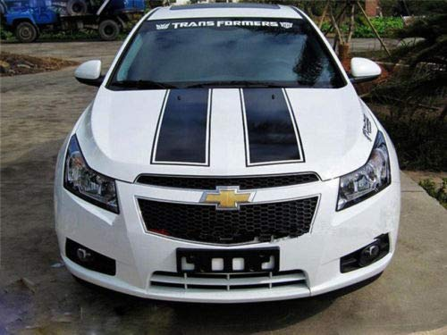 Chevrolet Chevy Cruze - Rally Racing Stripe Hood Decal Graphic Sticker kit