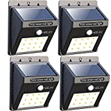 Image of 12 LED Solar Lights, Holan Waterproof Motion Sensor Solar Light Outdoor Wall Lights for Garden Patio Step Stair Fence Deck Yard Driveway, 4 Pack …