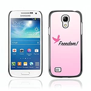 Designer Depo Hard Protection Case for Samsung Galaxy S4 Mini / Pink Message Freedom