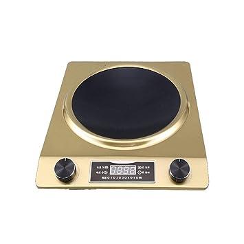 XIAOKUOAI cocina de inducción eléctrica a prueba de agua 3000 W alta potencia estufa cóncava cocina de olla caliente Mini olla caliente utensilios de cocina ...