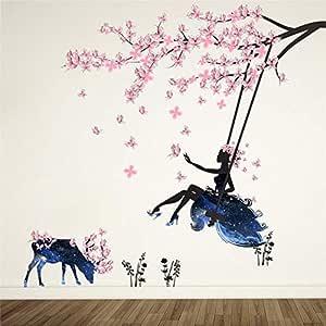 ملصق حائط برسمة شجرة جميلة