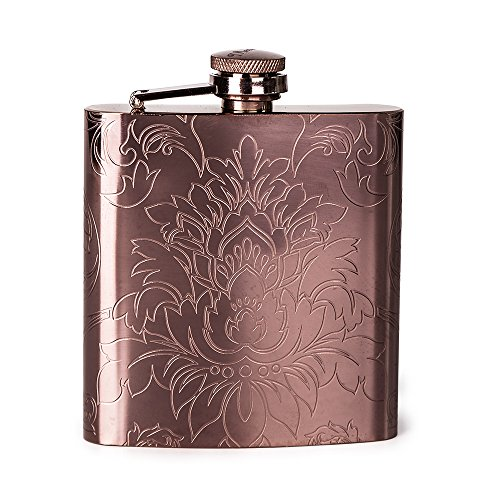 Mealivos 6oz Stainless Steel Hip Flask (copper) by Mealivos