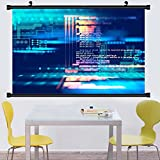 Gzhihine Wall Scroll Posterprogramming code abstract technology background of software developer and computer script ,Wall Art Paiting on Canvas 35''x 53''