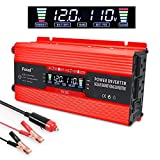 LVYUAN 700W/1500W Power Inverter Dual AC Outlets and Dual USB Charging Ports DC to AC Inverter 12V to 110V Car Converter DC 12V Inverter with Digital LCD Display