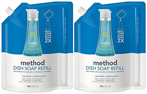 - Method Dish Pump Refill - 36 oz - Sea Minerals - 2 pk