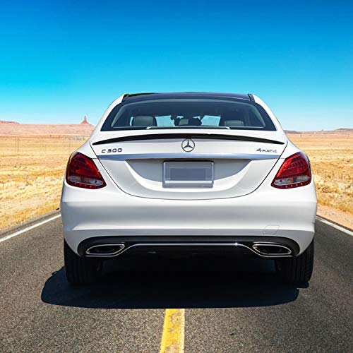 Rear Spoiler, Mercedes Benz W205 C-Class Sedan 2015-17 Spoiler Carbon Fiber, C200, C250, C400, C180, C300, C300 4MATIC, C350e, AMG C43, AMG C63, AMG C63S, (Mercedes C-class Sedan)